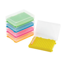96 well PCR storage box with lid 5/PK - Assorted colors