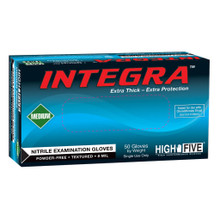 The Ansell Integra 75-086 nitrile exam glove is a 12 inch-long glove that can be tucked into a lab-coat sleeve for added protection. The glove of choice for embalmers and scientists working with contaminated fluids