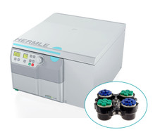 Hermle Benchtop Z446 Non-Refrigerated Centrifuge Cell Culture Bundle with Swing-out Rotor and Buckets to hold 34 x 15mL and 14 x 50mL tubes