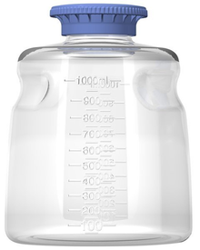 1000ml PC Media Bottle, Non-Sterile, 24/CS