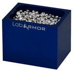 Single Cavity Bead-Block with .25L of Lab Armor Beads, Blue - for standard dry baths