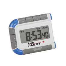 Lab Alert® Timer / Clock Pocket Four Place