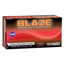 BLAZE® Nitrile Exam Gloves, Large 100/Bx, 1000/CS