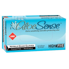 ALOE SENSE® Nitrile Exam Gloves - Large -  100/Box, 1000/CS