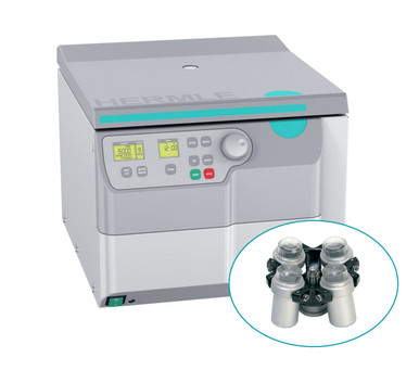 Hermle Z326 High-Speed Non-Refrigerated Centrifuge Cell-Culture Bundle with Swing-Out Rotor and Buckets for 6 x 15mL and 4 x 50mL tubes