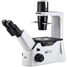Motic AE2000 inverted microscope for live-cell viewing with PL PH20X