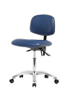 Vinyl ESD & Clean Room Chair Chrome - Desk Height 19-24""