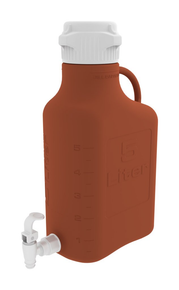 5L (1 Gal) Amber HDPE Carboy with 83mm Cap and Spigot