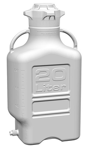 20L (5 Gal) HDPE Carboy with 120mm Cap and Spigot