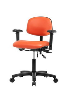 Vinyl laboratory chair - desk height 19-24""