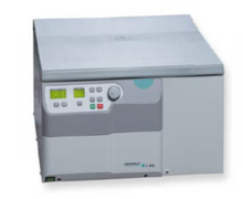 Hermle Z446 Universal Benchtop Centrifuge with 3L Swing-out Rotor Capacity and Auto-rotor detection.