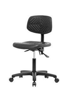 Polyurethane laboratory chair - desk height 17-22""