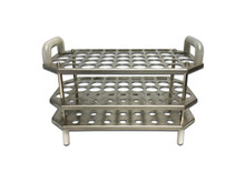 Stainless Steel Tube Rack for Autoclave and Incubator Use