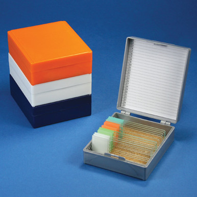 Microscope Slide Storage  Box, Cork Lined, Holds 25 slides