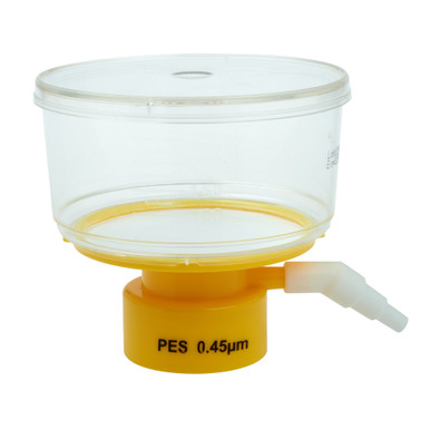 CellTreat Brand Vacuum Filtration Tops, 250mL, Low protein binding 45 micron PES membrane for filtering lab media and buffers (229712)
