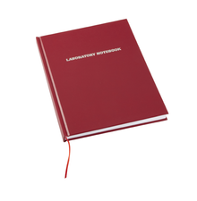 Laboratory Notebook, 200-pages, Lined, Red - Each