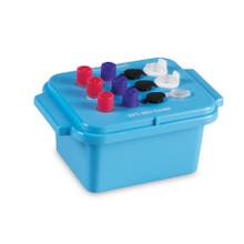 HS120073 TRUE NORTH® Mini Lab Cooler for 0.5-2.0mL Tubes, Keeps Samples at -20C, Blue