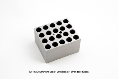 D1113 Dry Bath Block 20 x 13 mm tubes for the Labnet AccuBlock™ Digital Dry Bath