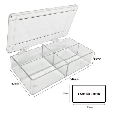 4 Compartment (71mm long) Western Blot Box for Protein Gels and Blotting
