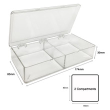 2 Compartment Western Blot Box for Protein Gels and Blotting