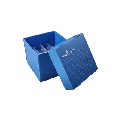 Heathrow Scientific HS120367 Foldable Polypropylene Freezer Boxes for large conical tubes. Comes complete with plastic dividers.