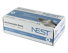 NEST powder free white latex gloves 90506-S-W Small, 10 Boxes of 100 gloves