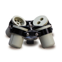 Hermle Z306-100 Swing-Out Rotor for Hermle Z306 and Z326 Universal Centrifuges. Shown with sampling of available inserts