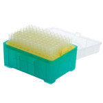 CellTreat CT229019 20uL low-retention filter pipette tip in pre-racked, sterile boxes. Pack of 960 tips