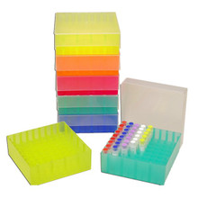 Stellar Scientific STO-R-FRBX-5 Polypropylene Freezer Boxes with Friction Fit Lid for 81 micro tubes - R1060 - Lab Supplies