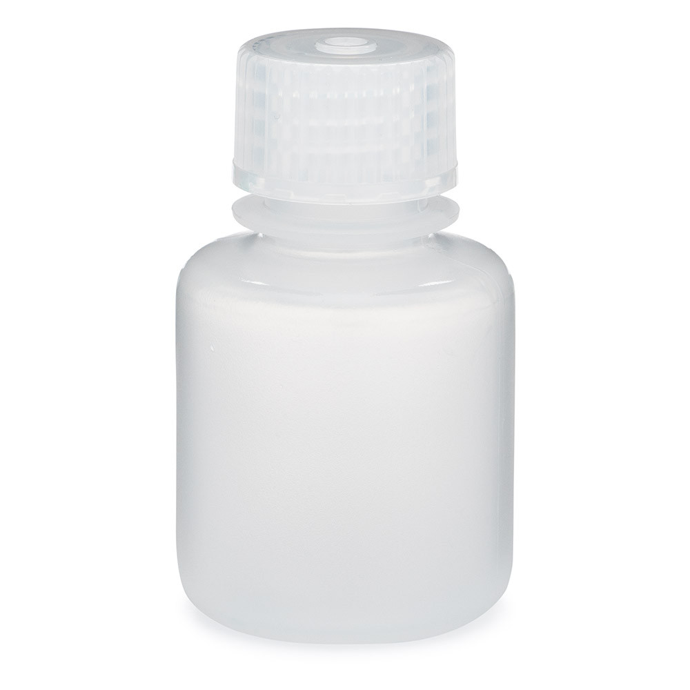 Narrow Mouth Boston Round Lab Storage Bottle, Polypropylene, 30mL, 12/Pack