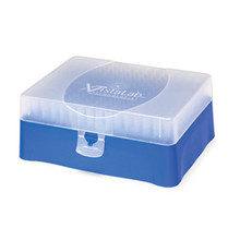 VistaRak micropipette tips for use with the VistaLab family of ergonomic Ovation Pipettes.