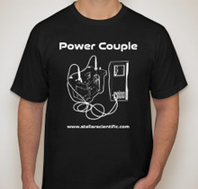 Stellar Scientific power couple t-shirt in black