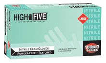 "High Five ""Peacock"" 3MIL nitrile glove, powder free, Large (1000/CS)"