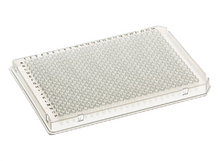 Stellar Scientific 384 Well Skirted PCR Assay Plate with A24 and P24 Notch for Roche Light Cycler and Other Leading Brand Thermal Cyclers - Lab Supplies - While the image shows a clear plate, this is actually the white version