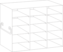 Image of UFDS-100-35 Freezer Rack for 100 place Microscope Slide Boxes. Holds 15 boxes