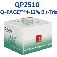 SMOBio Q-Page 4-12 percent gradient 12 Well Mini Bis-Tris Pre-Cast Gels for Western Blots QP2510 - Electrophoresis Supplies - Stellar Scientific