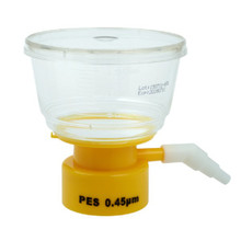 CellTreat 229711 150mL Polystyrene Bottle Top Filter with 50mm wide 0.45µm PES Membrane for Filtering Buffers and Media - Lab Supplies - Stellar Scientific