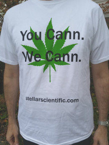 You Cann, We Cann T-Shirt for Cannabis Fans, White