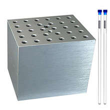 Aluminum Dry Bath Block for NMR Tubes BSWNMR  for use with Benchmark Scientific Dry Baths - Holds 30 x 5mm tubes - Lab Equipment - Stellar Scientific