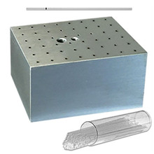 Aluminum Dry Bath Block for Hematocrit TubeeBSWHEM  for use with Benchmark Scientific Dry Baths - Lab Equipment - Stellar Scientific
