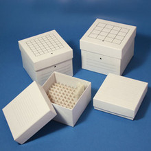 Stellar Scientific Cardboard Cryo Freezer Boxes for 50mL Tubes Feature Numbered Interiors, Weep Holes and Include a Dividers Made from Sturdy Coated Cardboard for Durability STO-050-48
