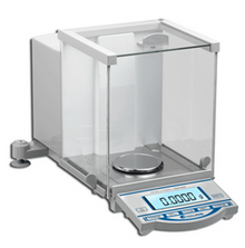 Accuris 120 gram analytical laboratory balance with 0.0001 readability and backlit LCD display