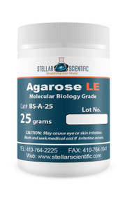 Stellar Scientific Agarose LE 25g For DNA Gel Electrophoresis