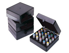Stellar Scientific Black Light-Safe Polypropylene Cryo Storage Box for Micro-tubes up to 2mL