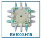 Attachment head for Benchmark Scientific BV1000, BV1003 and BV1005 vortex mixers. This horizontal head lets you mix up to 12 1.5mL/2.0mL microtubes at a time