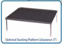 12 by 12 inch Stacking Platform with Dimpled Mat BR1000-STACK-D for Benchmark Rockers and Shakers