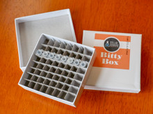 Stellar Scientific Bitty Box cardboard cryobox for PCR Tubes and Strip Tubes.