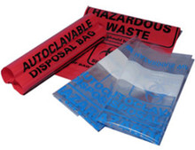 Red autoclave bag 12.2 x 26 inch (31 x 66 cm), case of 200