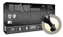 MIDKNIGHT® Black, Powder-Free Nitrile glove, Large, 100/BX, 1000/CS