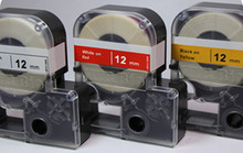 26' cassette of  24mm lab tape, clear with black print for LABeler™ Lab Printer